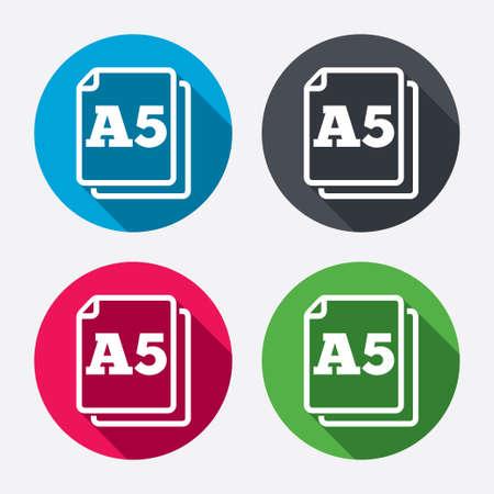 a5: Paper size A5 standard icon.
