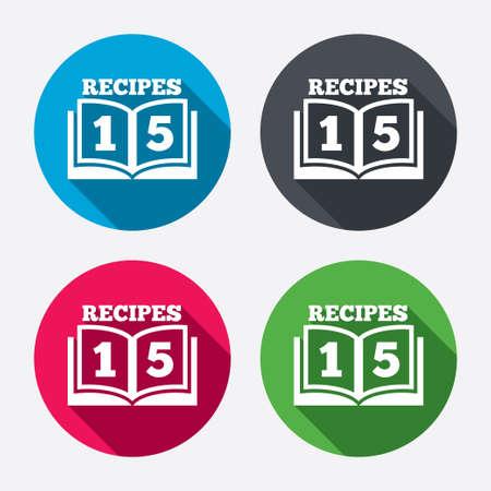 Cookbook sign icon.  Vector