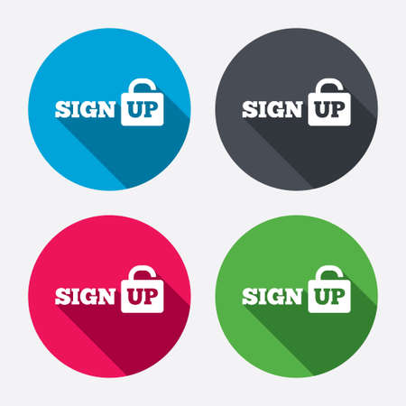 Sign up sign icon.