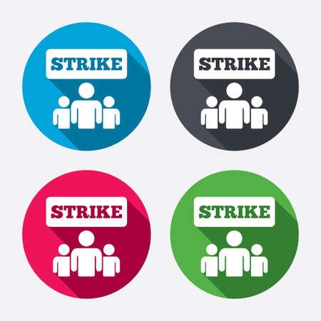 activists: Strike sign icon. Illustration