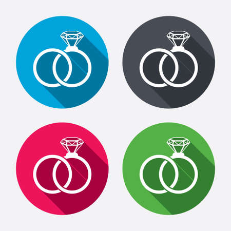 rings: Wedding rings sign icon.