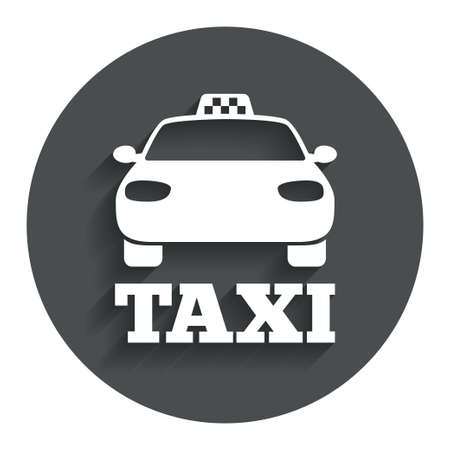 Taxi car sign icon. Public transport symbol. Gray flat button with shadow. Modern UI website navigation. Vector Vector