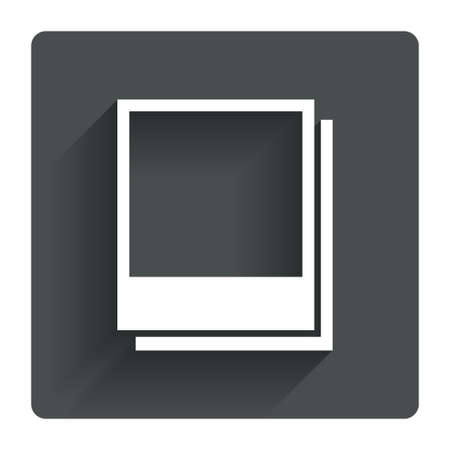 Photo Frames Template Sign Icon Empty Photography Symbol Gray