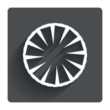 ananas: Pineapple slice sign icon. Ananas exotic tropical fruit symbol. Gray flat square button with shadow. Modern UI website navigation. Vector
