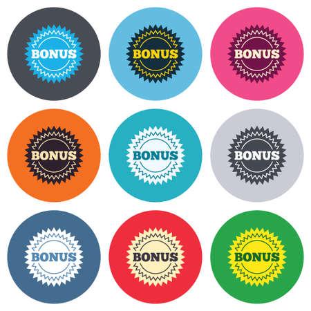 bonus sign icon. offerta speciale simbolo esplosione bolla ... - Disegno Stella Colorate