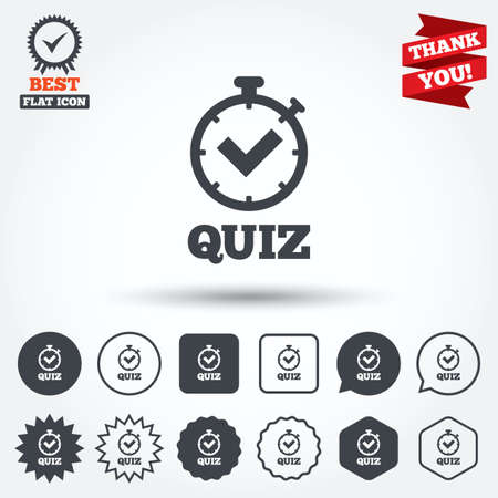 Quiz Sign Icon Questions And Answers Game Symbol Circle Star