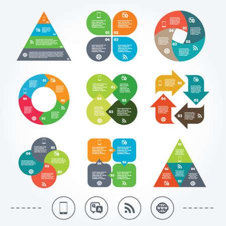 control de calidad: Circle y diagrama triángulo gráficos.