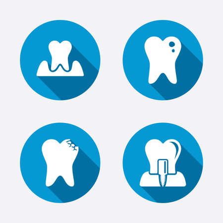 Dental care icons.  Vector
