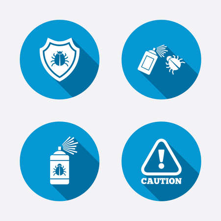 acarus: Bug disinfection icons. Illustration