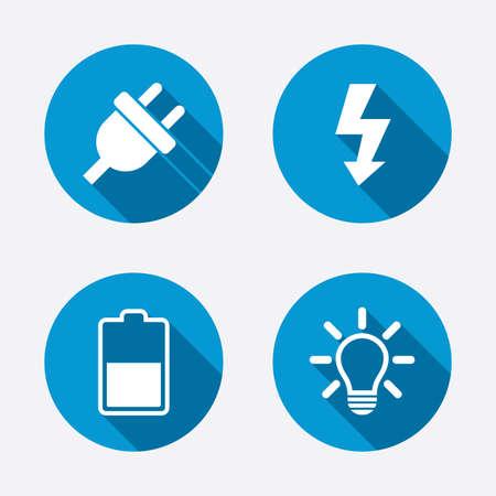 electricidad: Icono de enchufe eléctrico.