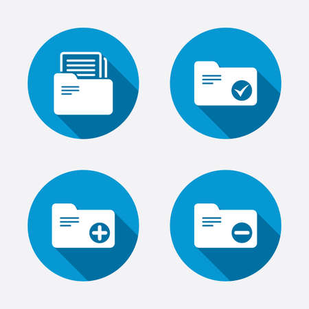 document management: Accounting binders icons