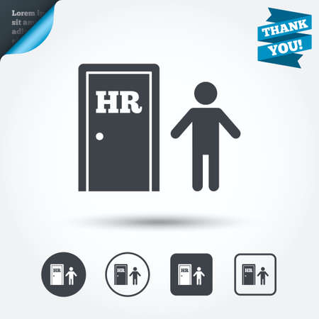Human resources sign icon.