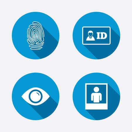 human icon: Identity ID card badge icons. Illustration