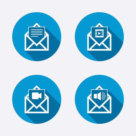 webmail: Mail envelope icons.