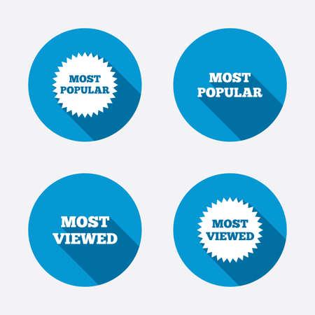 popularity popular: Most popular star icon.