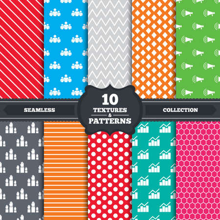 Seamless patterns and textures.  Vector
