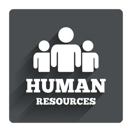 resources: Human resources sign icon