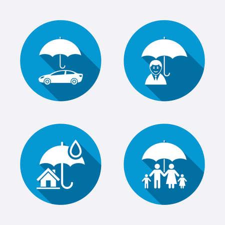 icônes familiales, immobilier ou assurance habitation