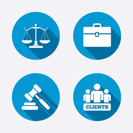 justicia: Escalas de Justicia icono Vectores