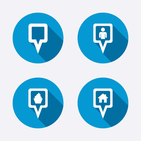 Map square pointer icons Vector