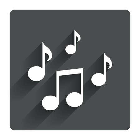notas musicales: La m�sica observa el icono de la muestra