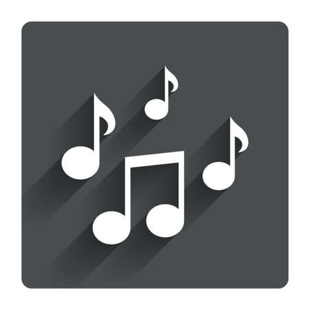 paper notes: Music notes sign icon
