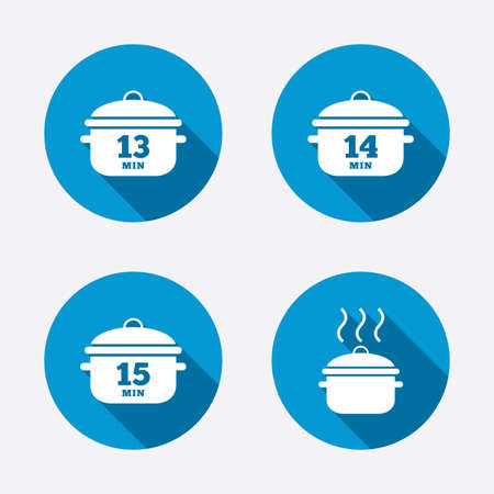 Cooking pan icons Vector