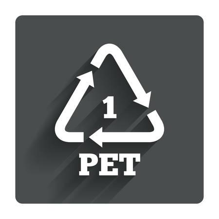 PET 1 icon Stock Illustratie