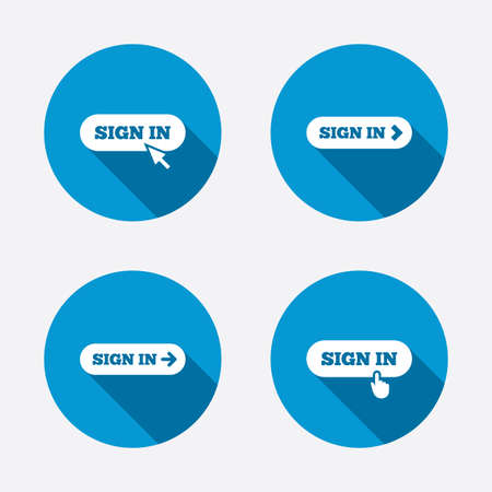 Sign in icons Vector