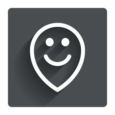 carita feliz: Cara feliz s�mbolo puntero del mapa