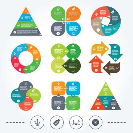 Circle and triangle diagram charts