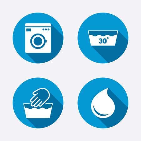 laundry concept: Hand wash icon