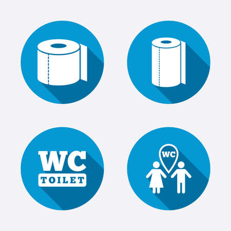 roll paper: Toilet paper icons Illustration