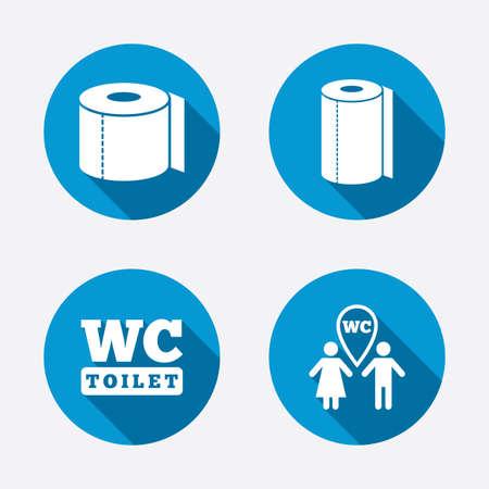 toilet: Toilet paper icons Illustration