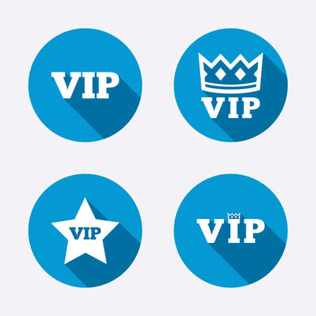 Vip Icons Very Important Person Symbols King Crown And Star