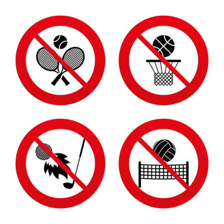 volleyball: No, Ban or Stop signs.
