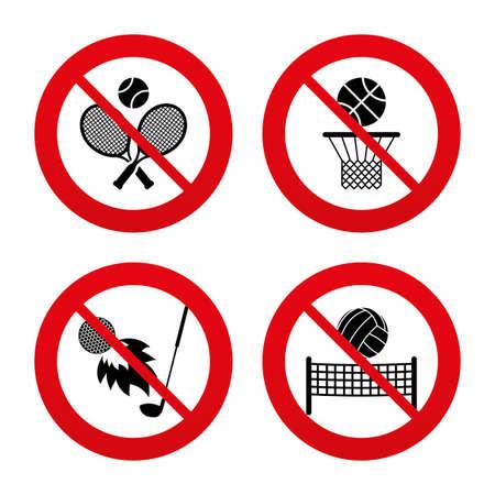 pelota de voleibol: Signos No, Ban o detenerse.