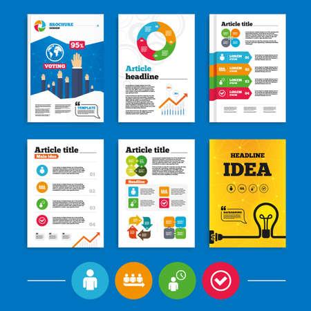 Brochure or flyers design. Queue icon.  Vector
