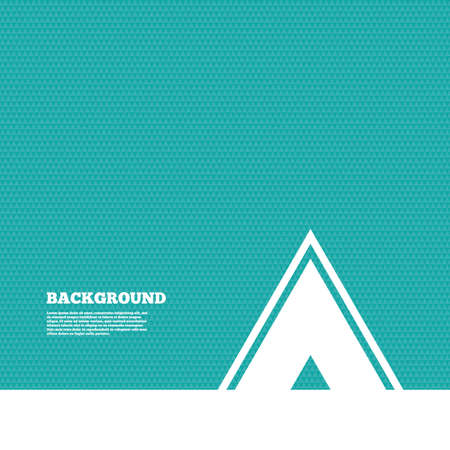 green texture: Background with seamless pattern. Tourist tent sign icon. Camping symbol. Triangles green texture. Vector