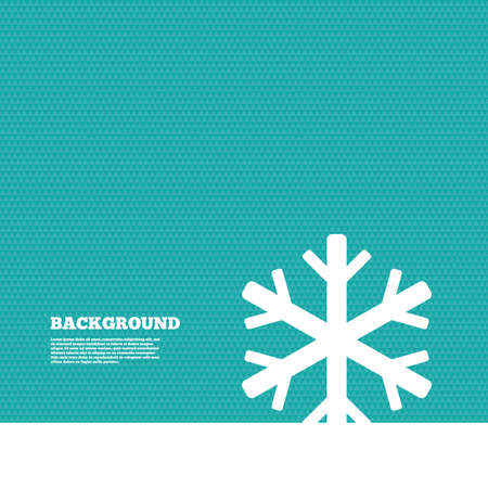 Background with seamless pattern. Snowflake sign icon. Air conditioning symbol. Triangles green texture. Vector