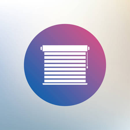 jalousie: Louvers sign icon. Window blinds or jalousie symbol. Icon on blurred background. Vector