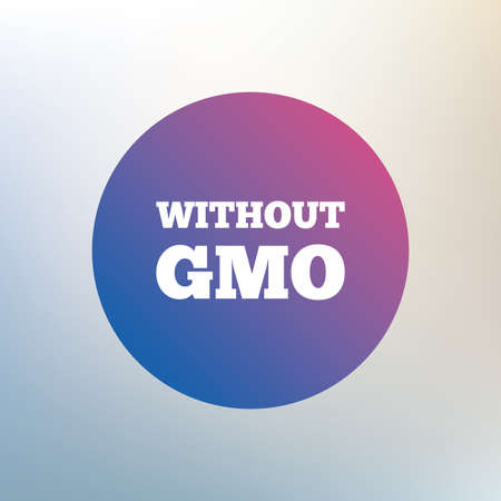 mutation: No GMO sign icon. Without Genetically modified food. Stop GMO. Icon on blurred background. Vector Illustration