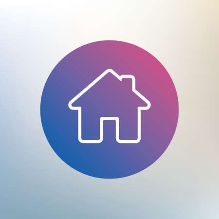 main: Home sign icon. Main page button. Navigation symbol. Icon on blurred background. Vector