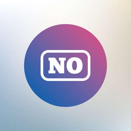 translation: Norwegian language sign icon. NO Norway translation symbol with frame. Icon on blurred background. Vector