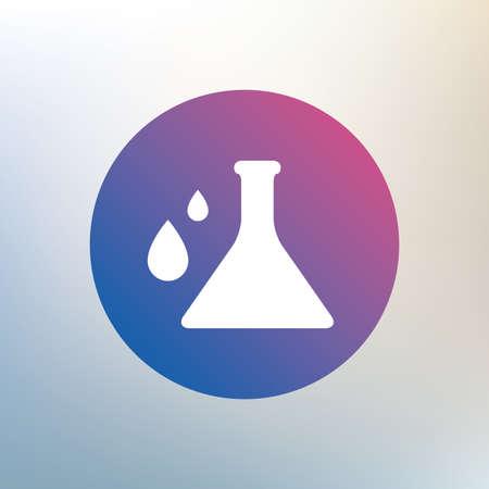 Chemie-Zeichen-Symbol. Lampensymbol Mit Tropfen. Lab-Symbol. Grauer ...