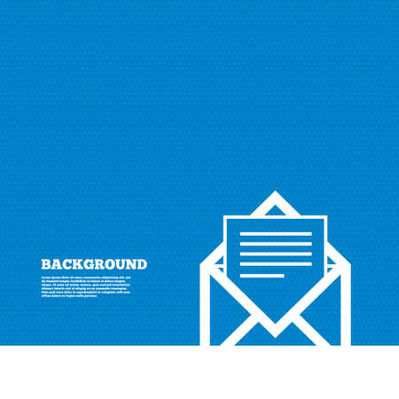 mail: Background with seamless pattern. Mail icon. Envelope symbol. Message sign. Mail navigation button. Triangles texture. Vector