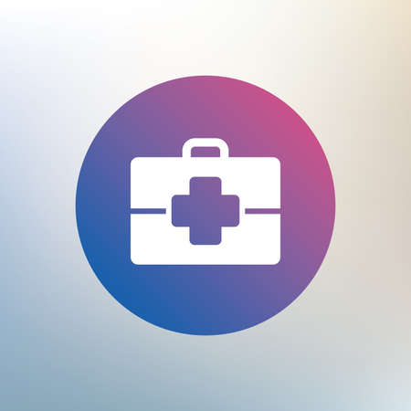 medical case: Medical case sign icon. Doctor symbol. Icon on blurred background. Vector