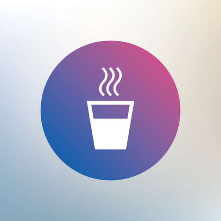 evaporation: Hot water sign icon. Hot drink glass symbol. Icon on blurred background. Vector