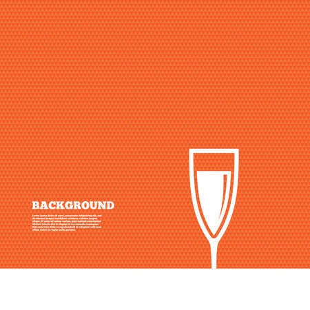 champagne orange: Background with seamless pattern. Glass of champagne sign icon. Sparkling wine. Celebration or banquet alcohol drink symbol. Triangles orange texture. Vector Illustration