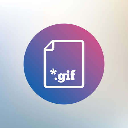 gif: File GIF sign icon. Download image file symbol. Icon on blurred background. Vector